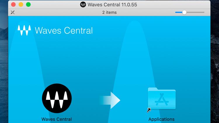 Waves - Mac install app
