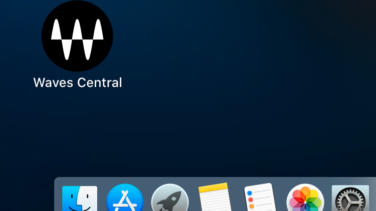 Waves - icon in Mac