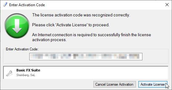 eLicenser Activation Basic FX Suite